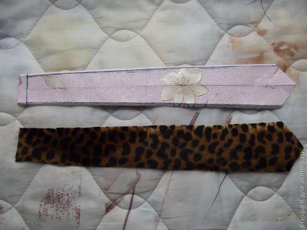 Кончик галстука с внутренней