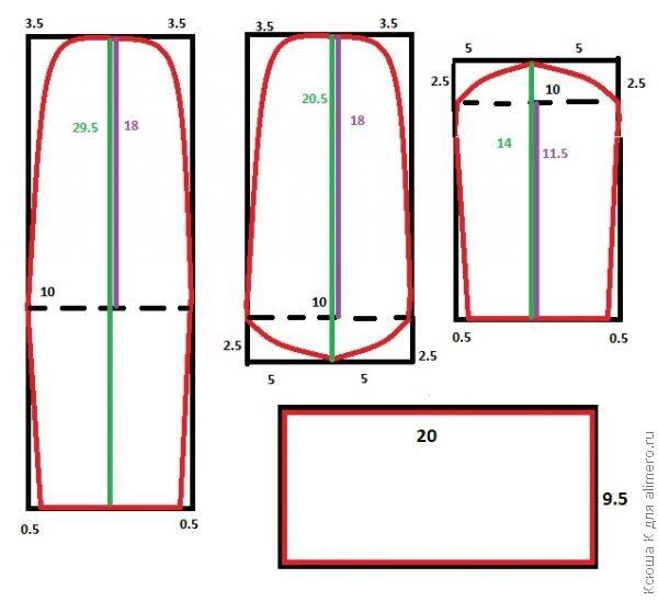 Уроки шитья. Носочки из трикотажа A00149_wmark