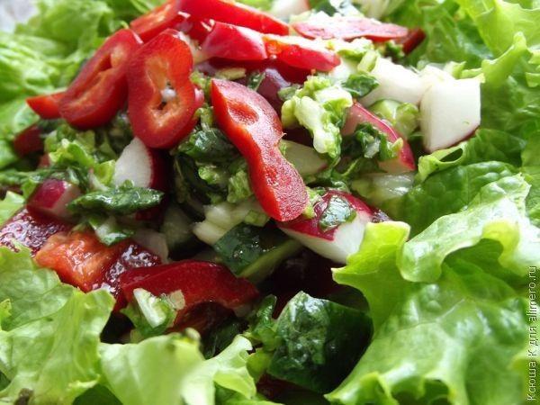 как сделать салат весенний