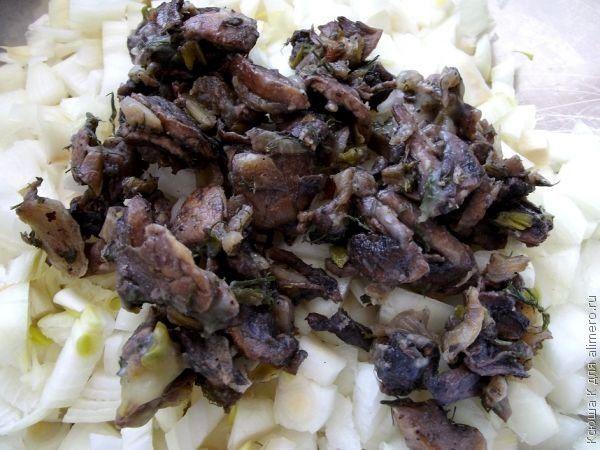 луковые котлеты с грибами