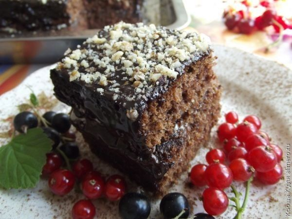 пражский торт с орехами