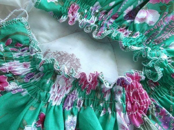 Шитье. Детское платье из журнала Burda. Мастер-класс