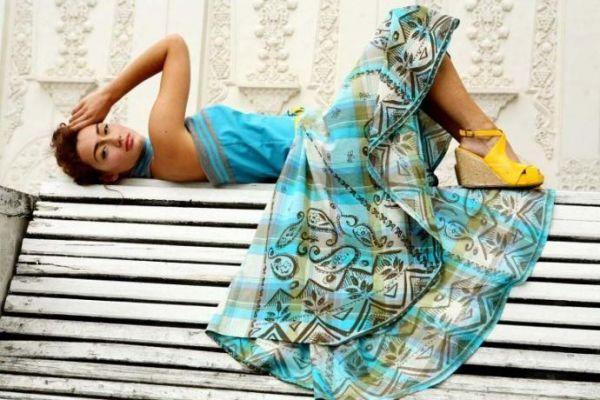 юбка-солнце на кокетке