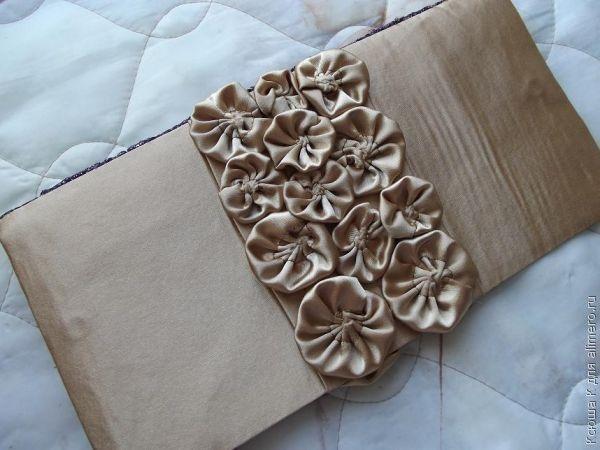 Цветок из атласных лент своими руками пошаговое