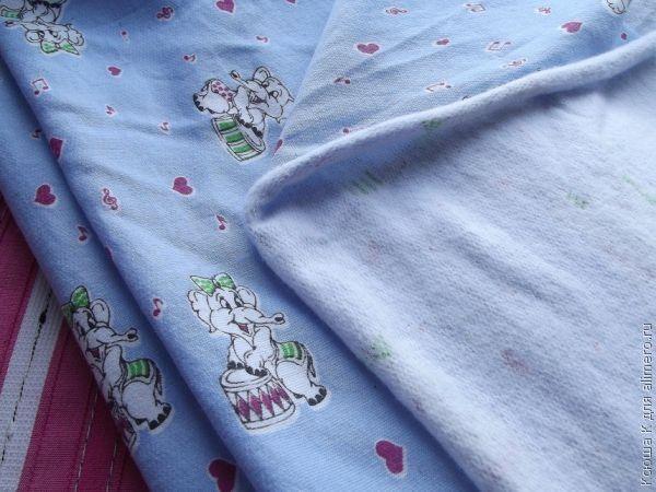 Выкройка детских утепленных штанов
