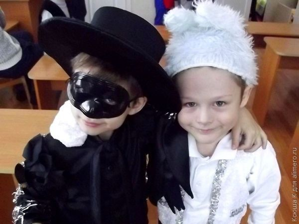 Новогодний костюм гнома для мальчика своими руками