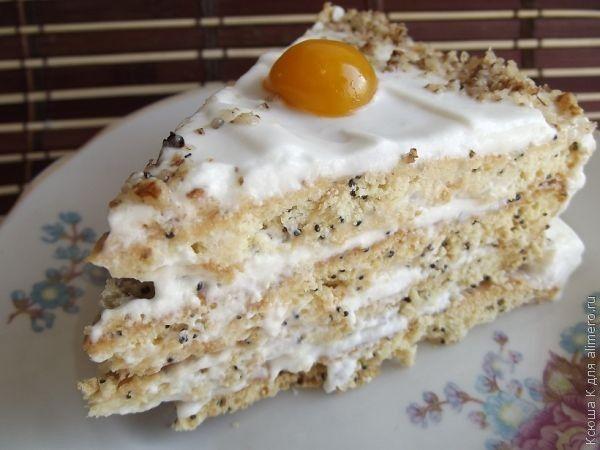 Торт медовый со сметанным кремом