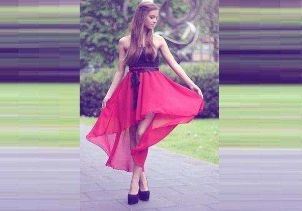 юбка с перепадом длины