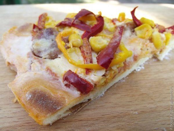 Вкусная пицца в микроволновке рецепт