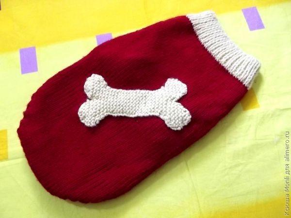 вяжем свитер для французского бульдога хенд мейд