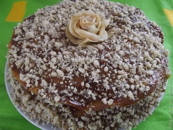 блинный торт со сгущенкой