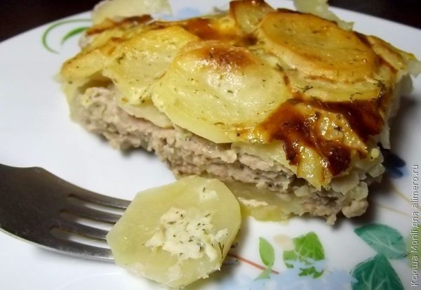 Свинина в горшочке с картофелем  пошаговый рецепт с фото