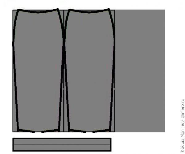 Лекало для трикотажной юбки