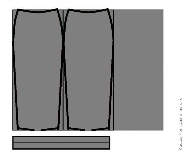 04c51ac7bd2 👌 Выкройка юбки карандаш из трикотажа