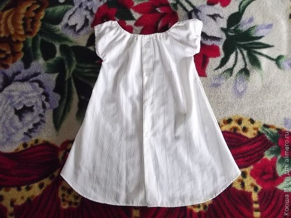 Сшить детское платье из мужской рубашки своими руками