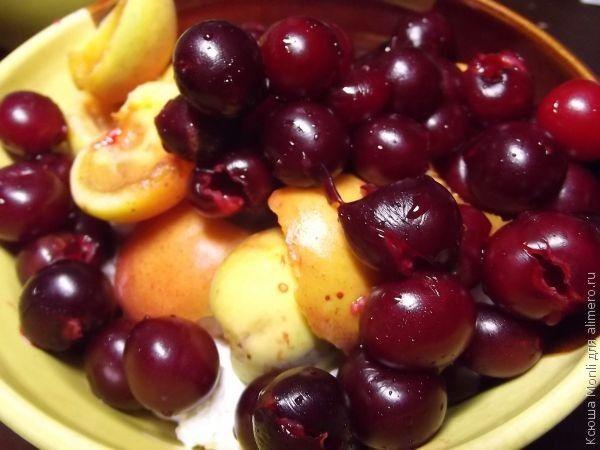 творожно-ягодный мусс