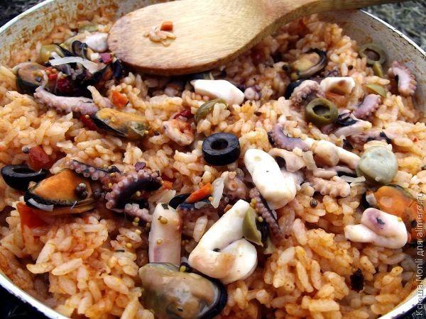 паэлья с морепродуктами рецепт