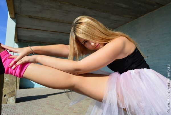 в душе балерина