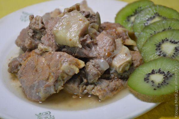 мясо с киви в мультиварке