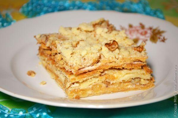 нежный торт с орехами