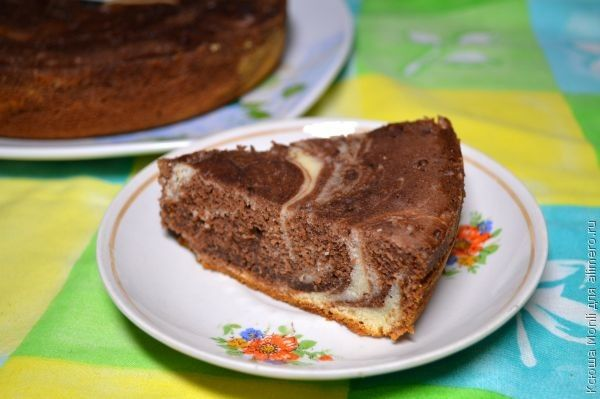 Сметанный пирог с какао рецепт