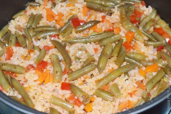 рис со спаржевой фасолью
