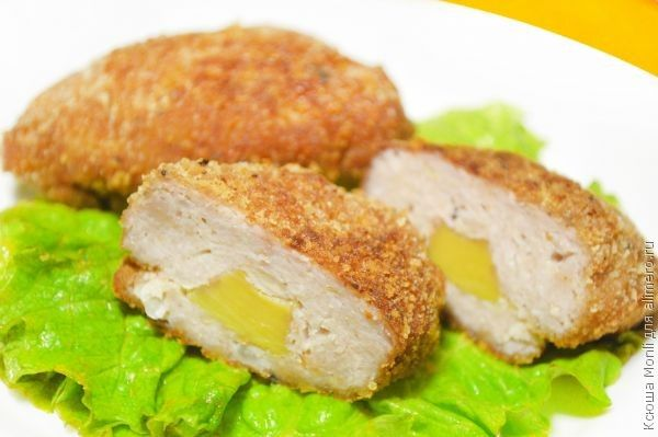 куриные котлеты с авокадо