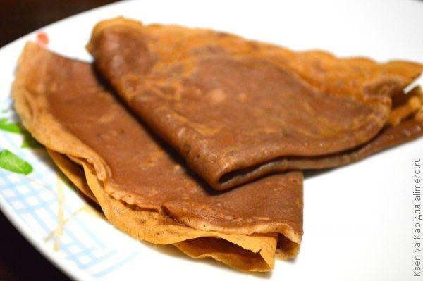 шоколадные блины-роллы