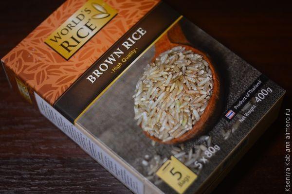 коричневый рис рецепт
