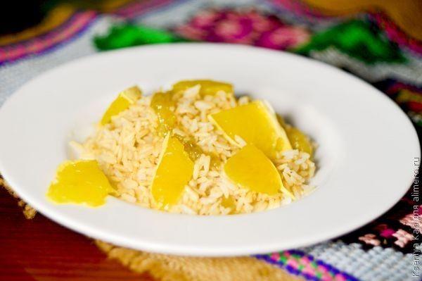 коричневый рис с цитрусами