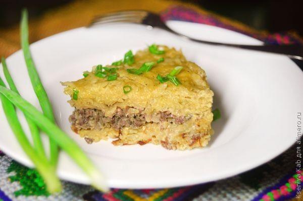 картофельная запеканка с фаршем в мультиварке рецепты с