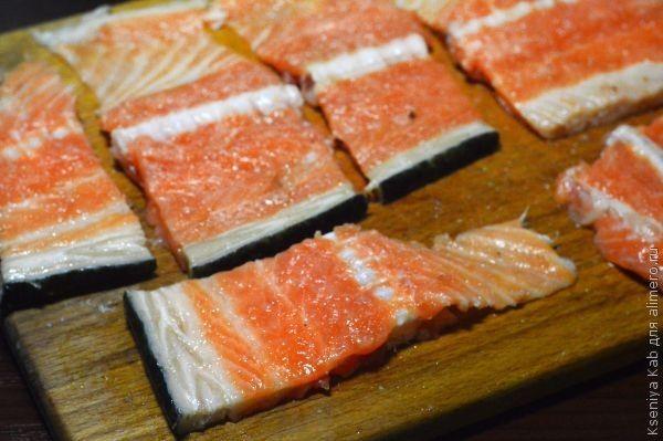 хребты лосося рецепт