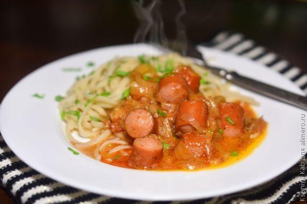 Блюда из сосисок вкусный рецепт с фото Алимеро