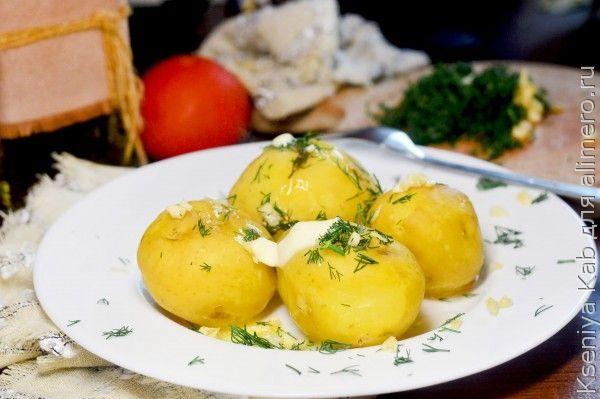 молодая картошка на пару