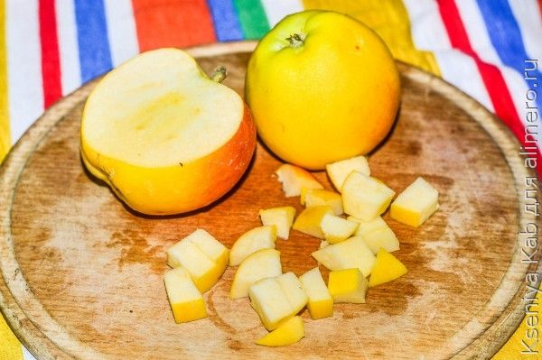 блины с фруктами