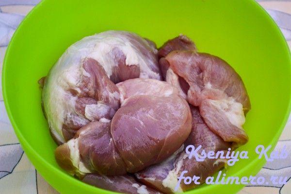 свинина с ананасом