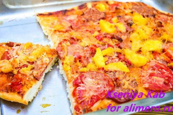 пицца рецепт