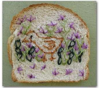 на хлебе