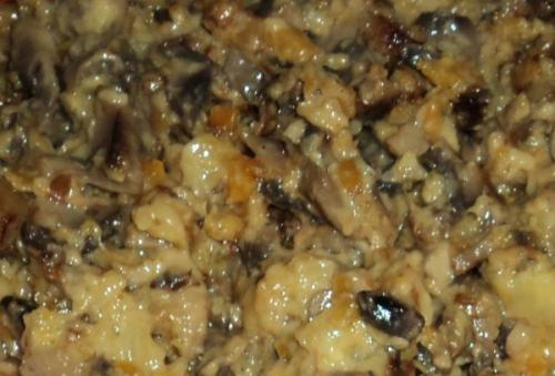 Бочонки из кабачков с грибами 5e7eab