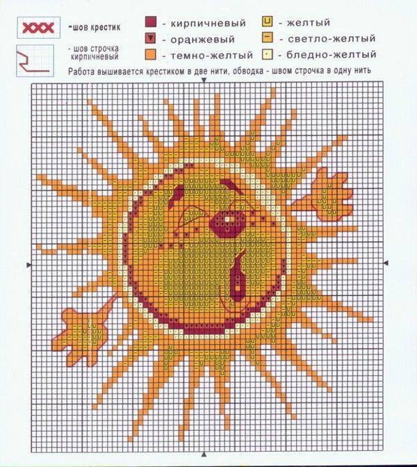 Вышивка крестом солнышко схема
