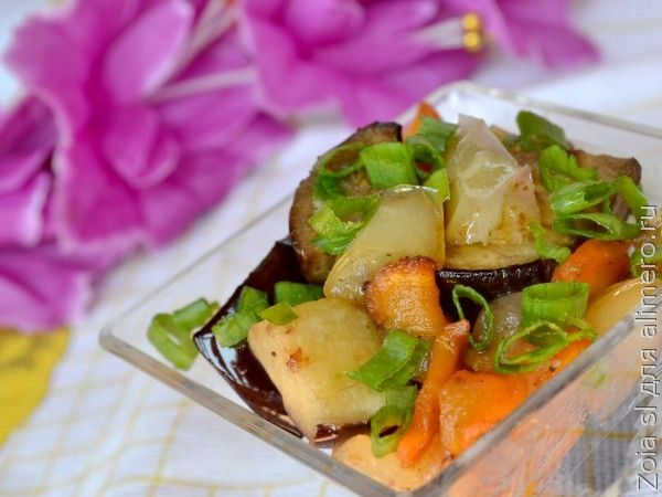 ОВОЩНОЕ РАГУ с кабачками и баклажанами - рецепт