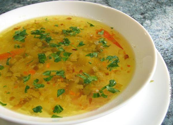 овощной суп с зеленым горошком рецепт
