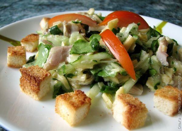 рецепты салатов без майонеза и без сыра