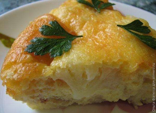 рецепт запеканки из цветной капусты с сыром