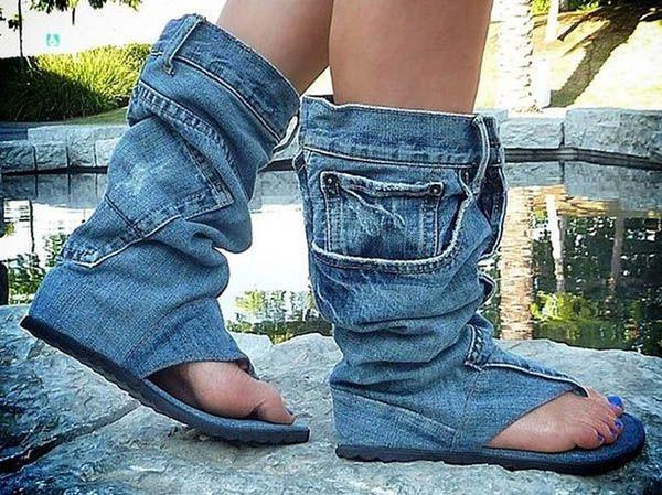 Безусловно, для изготовления такой эксклюзивной обуви потребуется время, терпение и навыки шитья. Но красиво же!