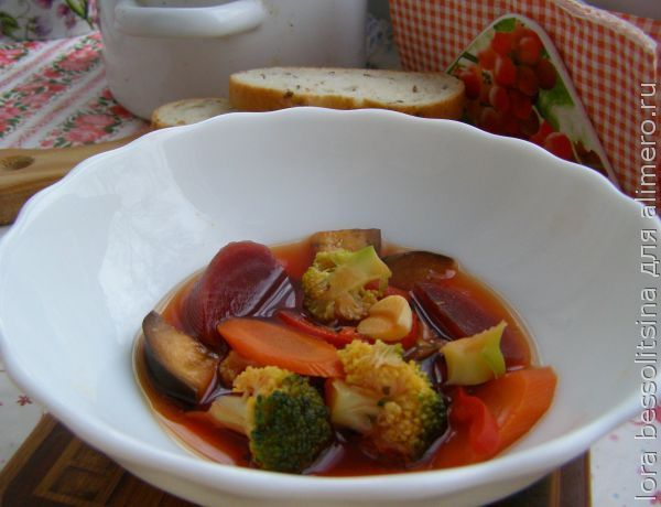Суп со свеклой