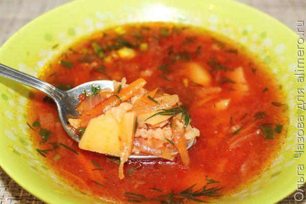 Овощной суп со свеклой