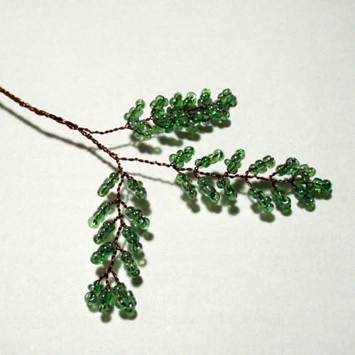 Делаем из бисера деревья