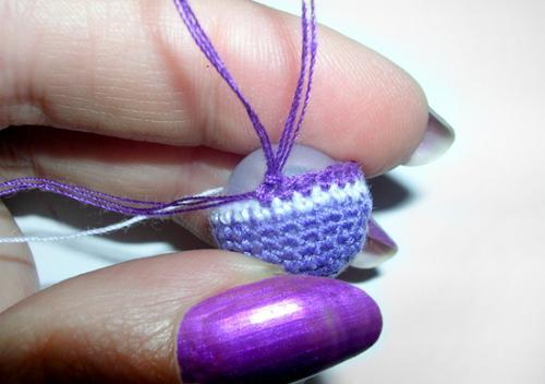 Вязаная бижутерия (браслет и сережки)