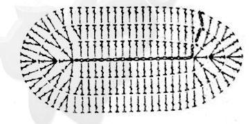 Данная схема предназначена для вязания пинеток - кед для деток примерно полугодовалого возраста.